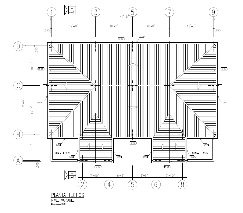 AROA - DUPLEX  Roof Plan 1379 SQ FT  $423,855.00