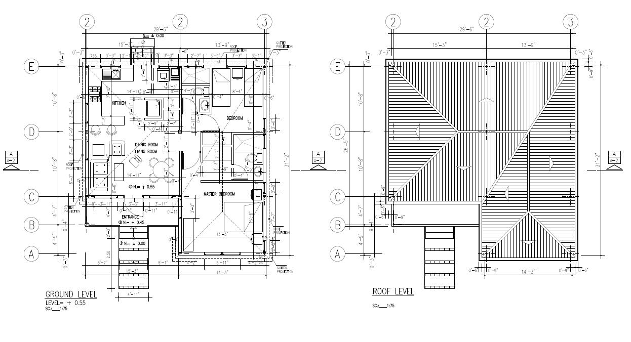 CUYAGUA - 2 BEDROOMS Floor/Roof Plan 857 SQ FT $295,965.00