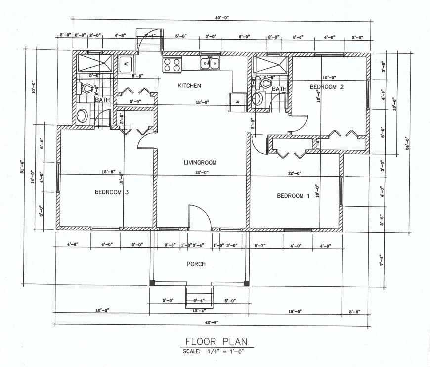 (LA Development )The Pear 3 Bed 2 Bath Floor Plan 1036 sq ft $220K~