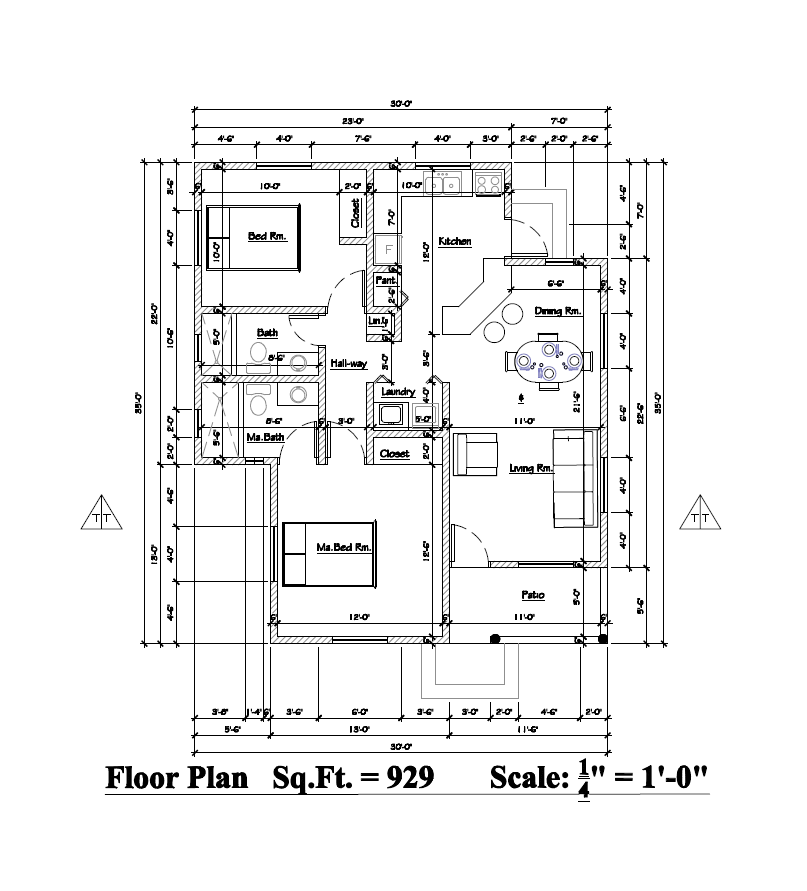 (William Sharon & Friends) Guava 2 Bed 2 Bath Floor Plan 929 sq ft $210k~