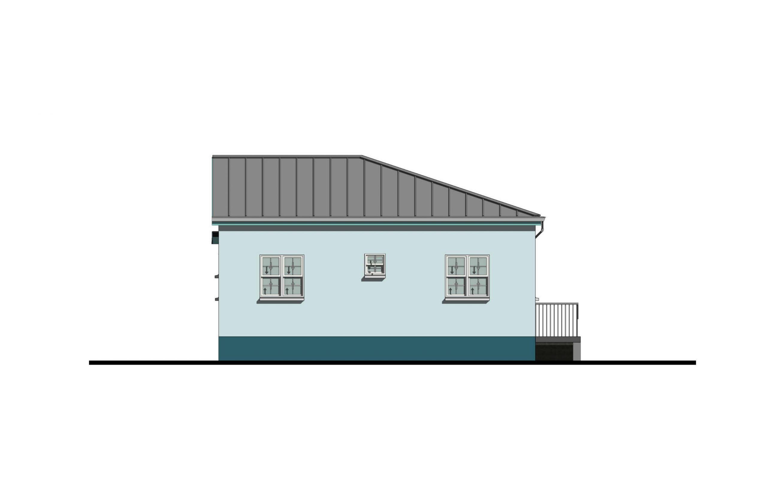 Lodestar 3 Bed  2Bath Option 1 Rear Elevation  1060+SQFT