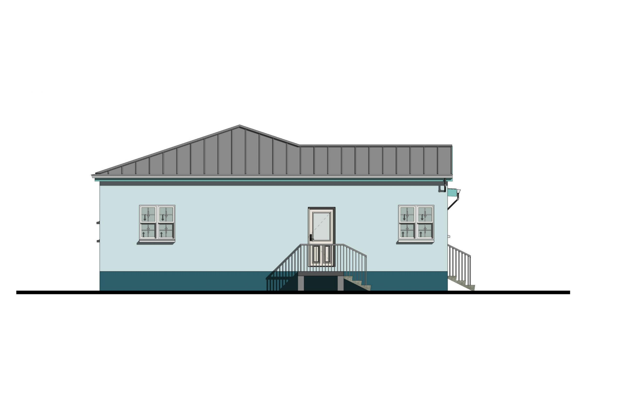 Lodestar 3 Bed  2Bath Option 1 Side Elevation A 1060+SQFT